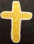 祈り アクリル、モデリングペースト、キャンバス 116.6×91cm