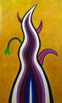 紫の炎 アクリル、キャンバス 145.5×89.4cm