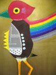 不死鳥 アクリルガッシュ、キャンバス 91×72.7cm
