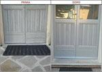 restauro porrta d'ingresso prima e dopo