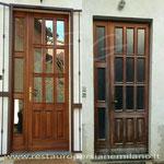 restauro porta esterna con vetro