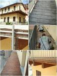 lavori di restauro in opera
