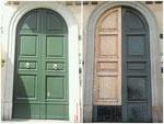 portone esterno restaurato in opera Milano