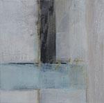 Spuren, Holzdruck, Pigmente, Acryl auf LW, 40 x 40 cm