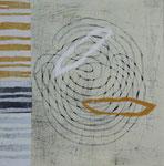 Lebenstanz, Holzdruck, Unikat auf Japanpapier und Holzkörper, 40 x 40 cm