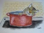 """""""Mutzi"""" als Reinlding, Pastell, 30x20, 2013"""