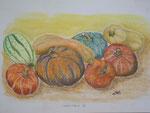 Herbstbild 2, Pastell, 35x60, 2013