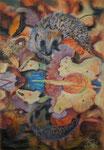 Bunte Blätter 26/ Herbstliche Spiegelung 2, Pastell, 34x24, 2016
