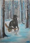 Ein Wintermärchen, Pastell/Kohle, 40x30, 2015