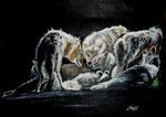 Die Stunde der Wölfe, Pastell, 30x40, 2015