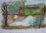 Das andere Ufer 3, Pastell, 2013