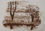 Das andere Ufer, Rötel, 30x40, 1977