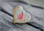 Bunte Blätter 21/ Herz und Seele, 34x24, Pastell, 2016 (nach einem Foto v Andrea Beck
