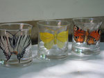 Schmetterlingsarten 2, Emaillack auf Glas, 1980