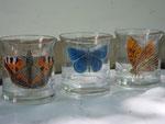 Schmetterlingsarten 1, Emaillack auf Glas, 1980
