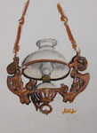 Lampe, Ölkreide, 30x20, 1977