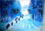 Aufbruchstimmung, Pastell, 30x40, 2015