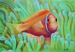Bunte Blätter 15/ Under the sea, 24x34, Pastell, 2016
