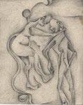 Der Sündenfall, Bleistift, 40x30, 1967