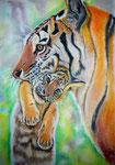 Ein Maul voll Tiger, Pastell, 40x30, 2015