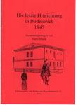 """Heft Nr. 29, """"Die letzte Hinrichtung ......""""; Autor: H. Blunk"""