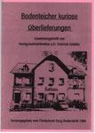 """Heft Nr. 6,  """"Bodenteicher kuriose Überlieferungen""""; Autor: Heinrich Schäfer"""