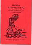 """Heft Nr. 32,  """"Gerädert in Bodenteich 1792""""; Autor: F. Thölke"""