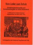 """Heft Nr. 5, """"Vom Leder zum Schuh""""; Autoren: H.Baumannu. H. Thies"""