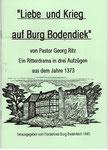 """Heft Nr. 2, """"Liebe und Krieg auf Burg Bodendiek""""; Autor Pastor Georg Ritz"""