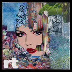 Untitled, Collage auf Leinwand, 20 cm x 20 cm, 2019