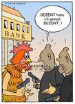 Banküberfall  -  Kunde: Eisenberger-Illustration