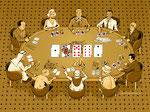 Pokertisch Promis  -  Kunde: Mucha Verlag