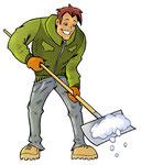 Schneeschaufeln  -  Agentur: Waltl & Waltl, Graz  -  Kunde: Men at Work Object Service