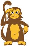 Monkey  -  Agentur: Kultig, Wels  -  Kunde: Monkeys Cafe.Bar Salzburg