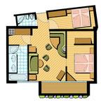 Zimmerplan Wellness-Schlössl  -  Agentur: Holzer Werbung, Innsbruck  -  Kunde: Dolce Vita Hotels Südtirol