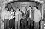 Jahr 1980: Schützenkönig: Weißacher Martin, Wurstkönigin: Weißacher Gabi, Brezenkönig: Gaiser Kurt Sen.
