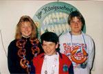 Jahr 1993: Schützenkönig: Kindermann Oliver, Wurstkönig: Schreiner Florian, Brezenkönigin: Pangerl Silke