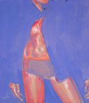 'Violet Sagoma', acrylics on plywood, 70 x 60cm, 2008