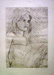 'Mirada', drypoint etching, 49,8 x 35cm, 2004