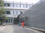 Eingang Rechenzentrum mit Erweiterungsbau