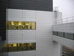 Blick vom Bestandsgebäude ZFM2 auf die Nordfassade