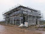 Blick von Nordosten in der Bauphase