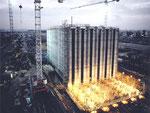 Stahlbeton-Rohbau in der Gleitphase