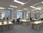 Teambüro in ehemaligem Labor (Simulation)