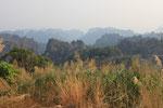 Ausblick auf laotische Berge