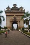 Patuxai, der Triumphbogen von Vientiane