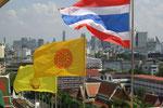 thailändische und buddhistische Flagge