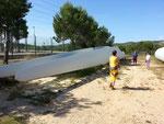 Besichtigung eines Windparks in der Umgebung von L'Ampolla