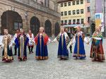 Russische Tanzgruppein Rothenburg ob der Tauber, Deutschland