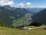Der Startplat über dem Stubaital, Österreich
